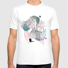 Gooey SMALL White Mens Fitted Tee
