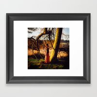 Lady Of The Wood Framed Art Print