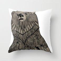 Beary Hairy Throw Pillow