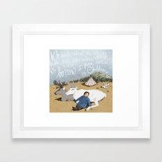 Reindeer child Framed Art Print