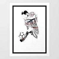Zinedine Zidane - The Sc… Art Print