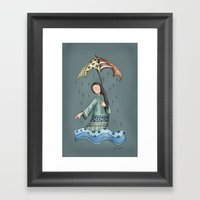 Sad Blueness Framed Art Print