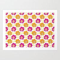 Friendship Flowers Art Print