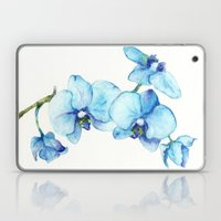 Blue Orchids - Watercolor Laptop & iPad Skin