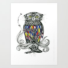 Bird Inspiration: Brown Fish Owl Art Print