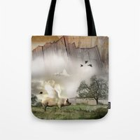 Pig with Wings Tote Bag