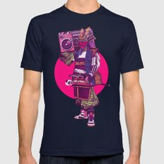 Hip-Hop Samurai Mens Fitted Tee Navy SMALL