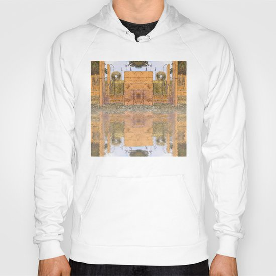 Beach stairs reflected in abstract Hoody