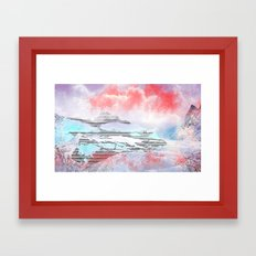 Faerie Pastel Cloud Scen… Framed Art Print