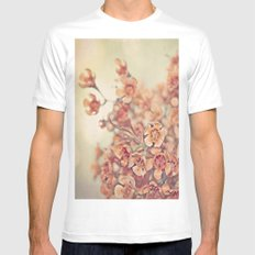 Orange Waxflowers Mens Fitted Tee SMALL White