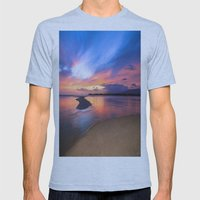 Paradise Sunset 8 Mens Fitted Tee Athletic Blue SMALL