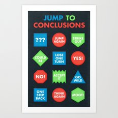 It's a Jump to Conclusions Mat Art Print