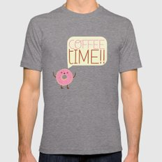 coffee time Mens Fitted Tee Tri-Grey SMALL