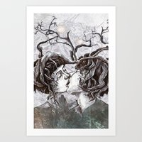 Bird Sings in The Apple Tree Art Print