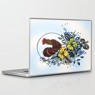 Laptop & iPad Skin featuring Pen And Ink Drawing, Roo… by Saribelle Inspiratio…