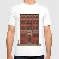 Williamsburg White Mens Fitted Tee SMALL