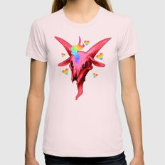 ♥cute as hell♥ Womens Fitted Tee Light Pink SMALL