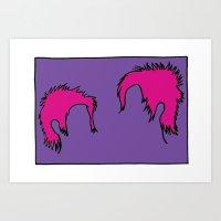 Punk Hair Art Print