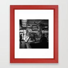 Fenwick Meats Framed Art Print
