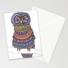 Patterned Owl Stationery Cards