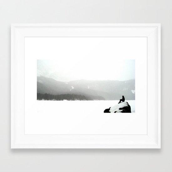 snowblind.  Framed Art Print