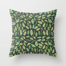 Night Tropical Jungle Throw Pillow