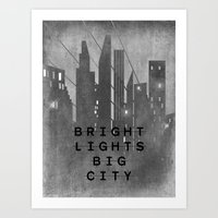 Bright Lights Big City Art Print