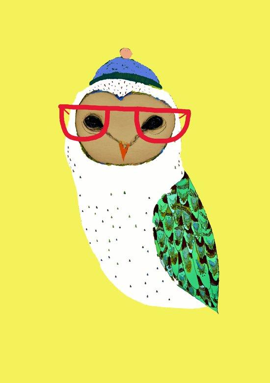 I Love Owls Art Print