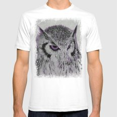 Violet Owl Mens Fitted Tee White SMALL