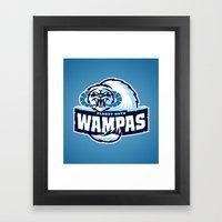 Planet Hoth Wampas - Blu… Framed Art Print