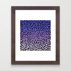 Ice Leopard Framed Art Print