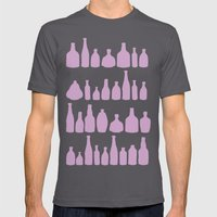 Bottles Pink Mens Fitted Tee Asphalt SMALL
