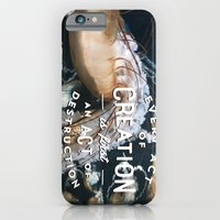 iPhone & iPod Case featuring Every act of creation is first an act of destruction  by Beckah Carney Photography