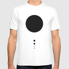 The Solar System (white) SMALL White Mens Fitted Tee