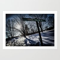 Sign Of Direction Art Print