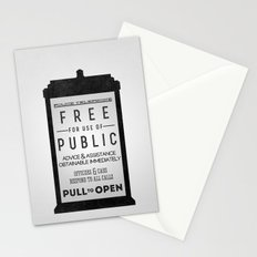 PULL to OPEN (TARDIS) Stationery Cards