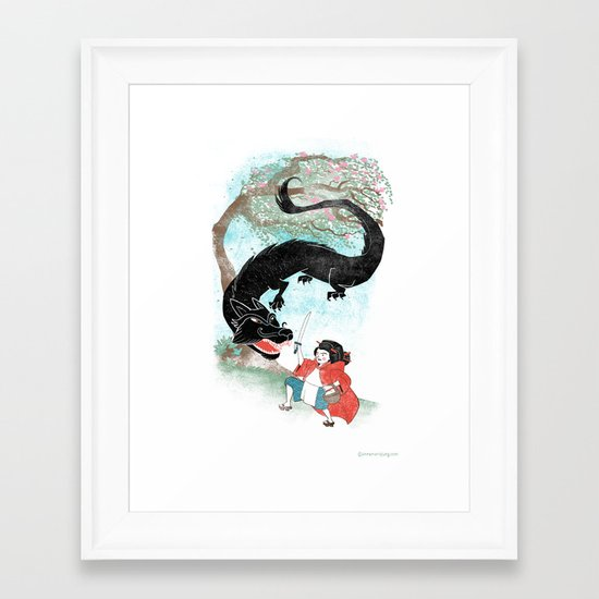 Little Red-San Framed Art Print