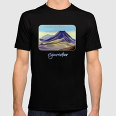 Mount Ngauruhoe SMALL Mens Fitted Tee Black