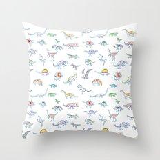 jurassic dino Throw Pillow