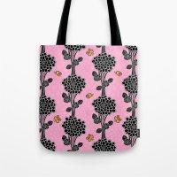 Flowered tree. in pink Tote Bag