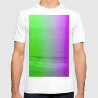 Green + Purple Mens Fitted Tee White SMALL