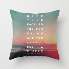 Face to the Sunshine Throw Pillow