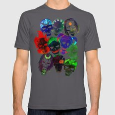 Suicide Squad Skulls Mens Fitted Tee Asphalt SMALL