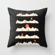 Moonrises...Moonsets... Throw Pillow