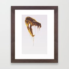 Painted Skull Gold Framed Art Print