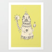 High Mr Meatbell Art Print