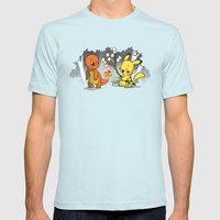 Toastymon Mens Fitted Tee Light Blue SMALL