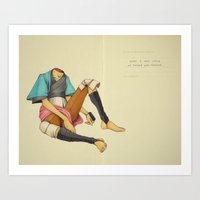 When I Was Little, My Father Was Famous. (Spread) Art Print