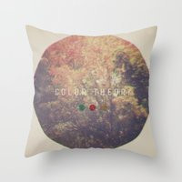 Color Theory Throw Pillow