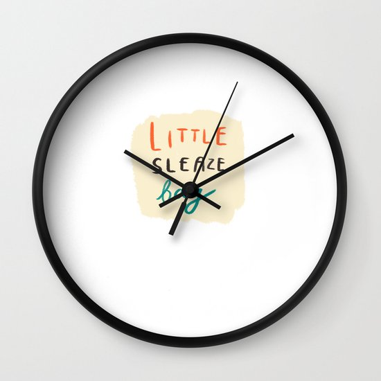 little sleaze bag Wall Clock